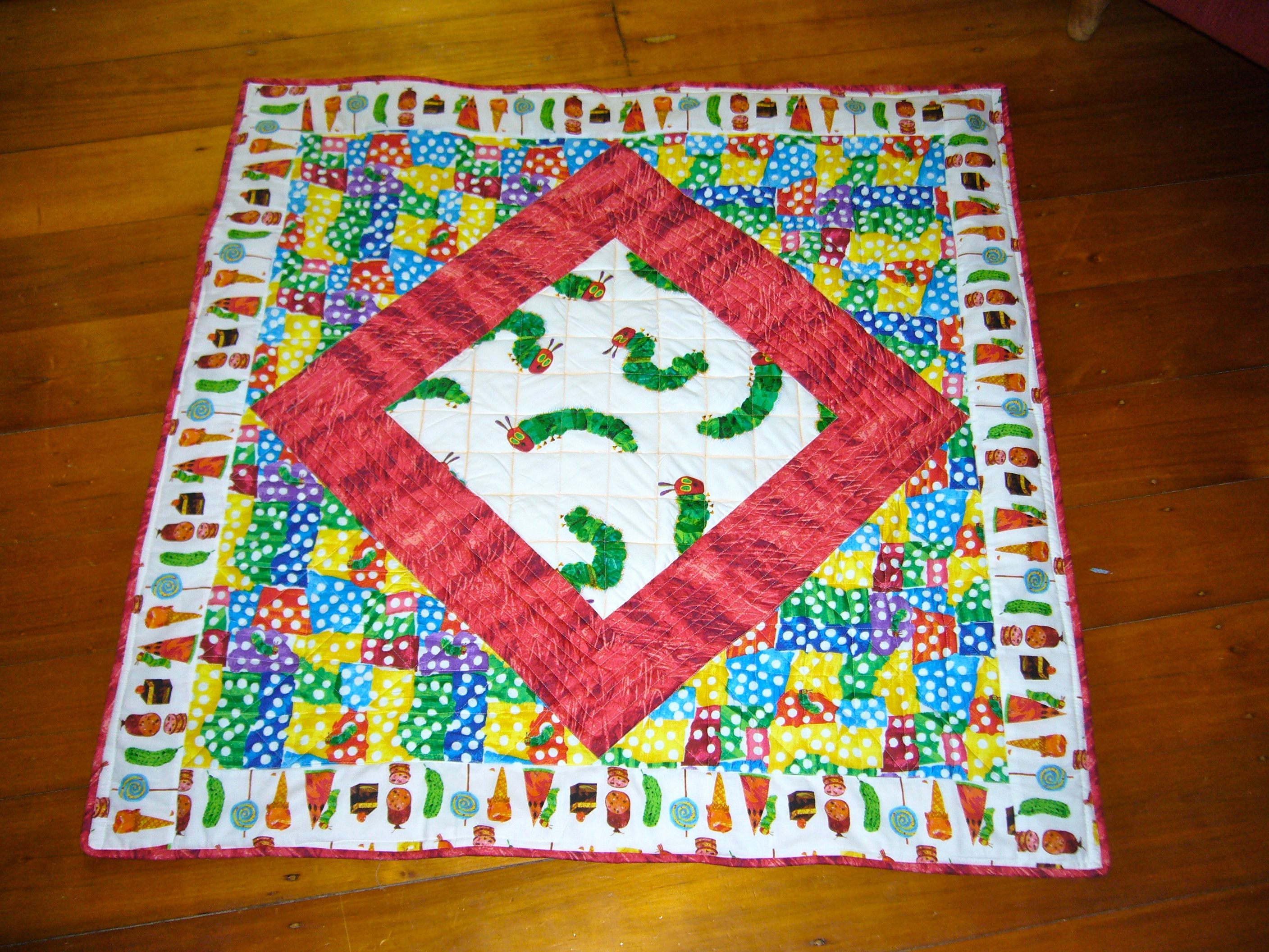Finished Object: Hungry Caterpillar Quilt « 3 Hours Past the Edge of ...