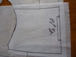 Put a piece of paper over the lower portion of the front and trace the piece.  Add seamlines at the underbust seam, the side seams already have a seam allowance.