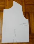"Regular, fairly standard ""bodice"" with two darts"