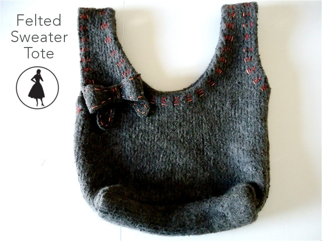 Felted Sweater Tote | 3 Hours Past