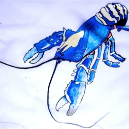 Blue Lobster Dress | 3 Hours Past