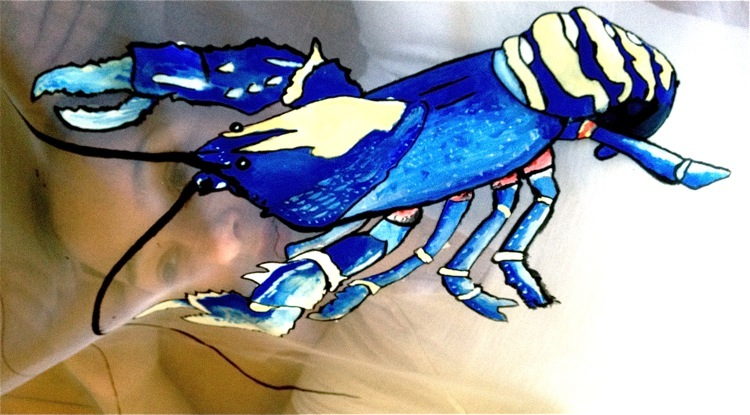 Blue Lobster Dress | Dali to Schiap | 3 Hours Past