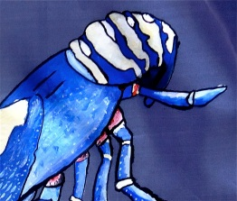Blue Lobster Dress | Front Tail | 3 Hours Past
