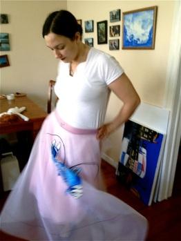 Blue Lobster Dress | Motion | 3 Hours Past