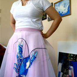 Blue Lobster Dress | Still Drape | 3 Hours Past