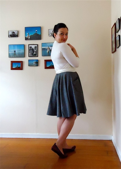 Etsy | Pavlova Wrap Top & Skirt | Back View