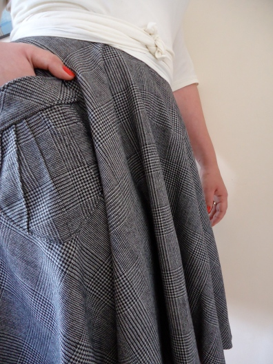 Etsy | Pavlova Wrap Top & Skirt | Detail | Drapey Wool Suiting | Dense Fine Merino Jersey