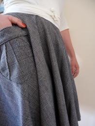 Etsy | Pavlova Wrap Top & Skirt | Detail | Drapey Wool Suiting | Dense Fine Merino Jersey