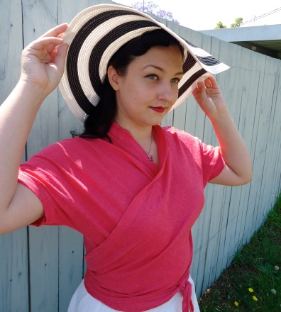 Etsy | Pink Linen Sample Wrap Top | Pavlova | Cake Patterns