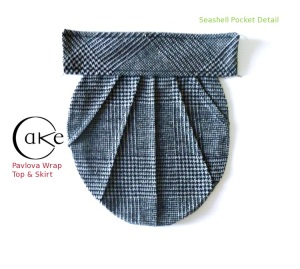 Gray Woolen Seashell Pocket | Pavlova Skirt | Cake Patterns | Pre-Sale December 15-20