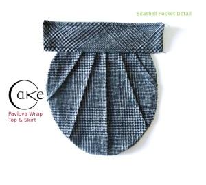 Gray Woolen Seashell Pocket | Pavlova Skirt | Cake Patterns | Pre-Sale December 15-20
