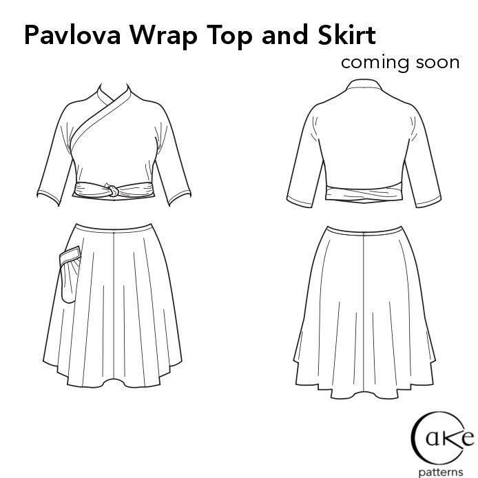 Pavlova Flats | Wrap Top and Skirt | Cake Patterns