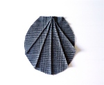 "Gray Windowpane Check Wool ""Seashell"" Pocket"