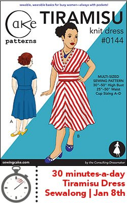Tiramisu Dress 30 Minute Sewalong | Cake Patterns