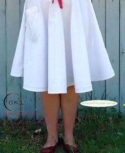 White Canvas Pocket Detail | Pavlova Skirt | Pavlova Circus and Pre-Sale