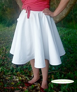 White Canvas Seashell Pocket | Pavlova Skirt | Cake Patterns | Pre-Sale December 15-20