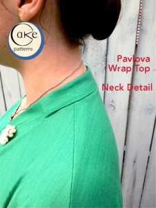 Wintergreen Pavlova | Neck Detail | Cake Patterns