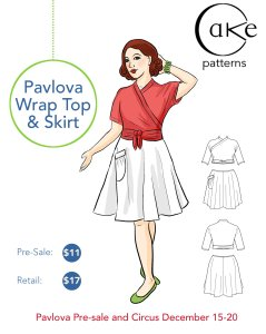 Wow Pavlova Wrap Top and Skirt | Full | Hi Res