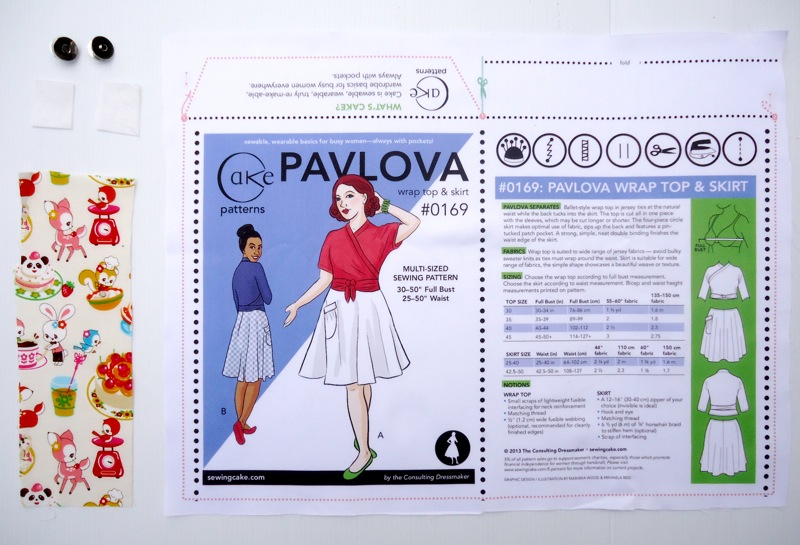 Pavlova Envelope Kit Contents