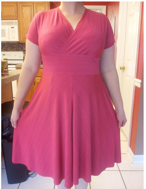 Melanie made 2 dresses so far- one of her goals was to add some nice wearable basics to her depleted wardrobe.  Check!