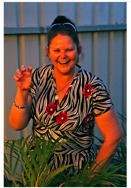Chris' jungle print Tiramisu and her spirit put a big smile on my face, click here for all her deets and photos!