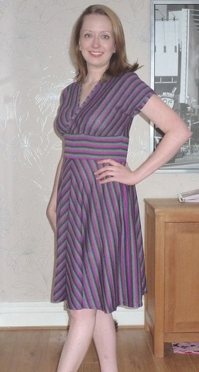 "sew_stylish in stripes says: ""I have been wearing it this afternoon for photos and it is so comfy. I just got changed back into my jeans and my 2 year old got upset. When I asked her why, she said ""I want you to wear the pretty dress all the time"" - to get compliments from a toddler, wow it has made an impression!""  I love it."