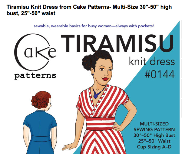 Click to view the Tiramisu Dress Pattern available for sale on Etsy