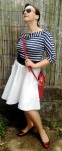 paired with the Pavlova, cummerbund belt, and the red leather bag (for going out)