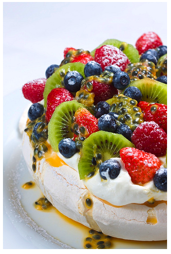 click for source article- interesting Pavlova lore and NZ recipe