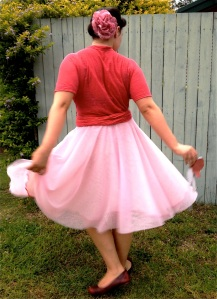 Pink Tulle and Linen Jersey Pavlova