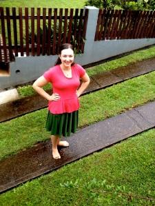 Pavlova Green in Rain Front