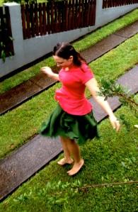 Pavlova Skirt Motion Dancing In the Rain