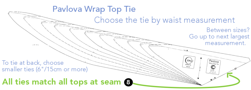 Pavlova Wrap Top Tie Sizing