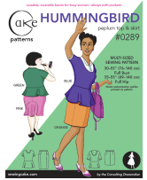 Hummingbird Peplum Top & Skirt