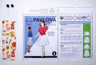 Organic Cotton Sateen Envelope Kit- Pavlova $8.95