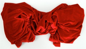 I've been working with some top-notch red dancewear velvet....