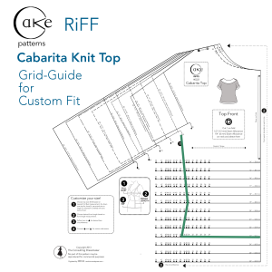 Grid Guide For Custom Fit Cabarita Size Custom