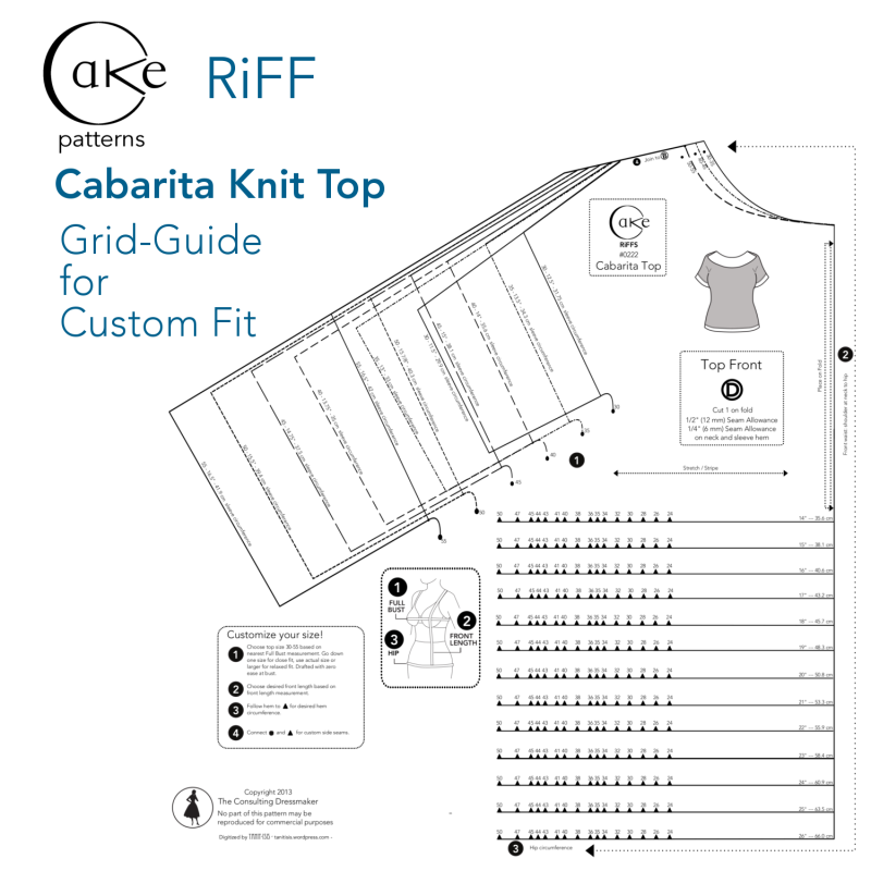 Grid Guide For Custom Fit Cabarita