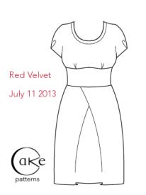 Red Velvet Front Flat