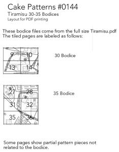 30-35 Bodice Tiling Guide