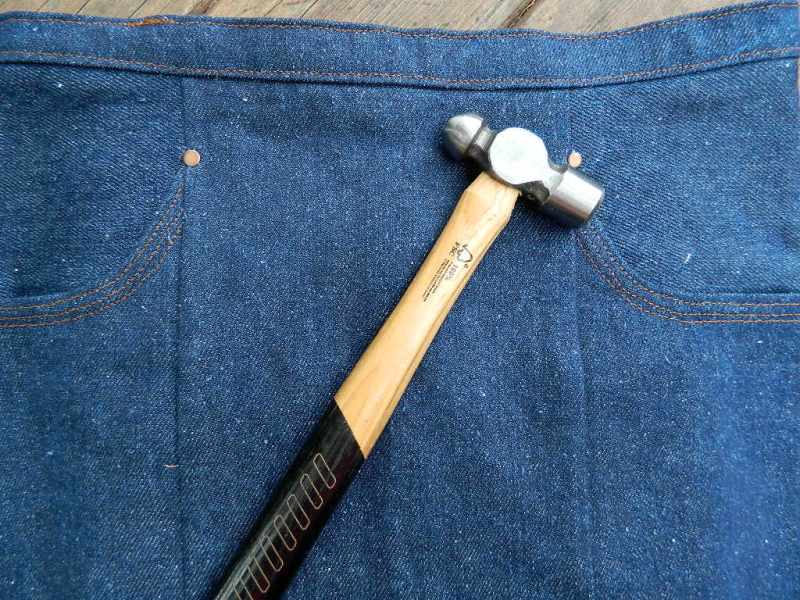 A sewing hammer- slim and smaller scale, easier to wield with accuracy.