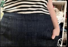 Denim waistband no zipper!