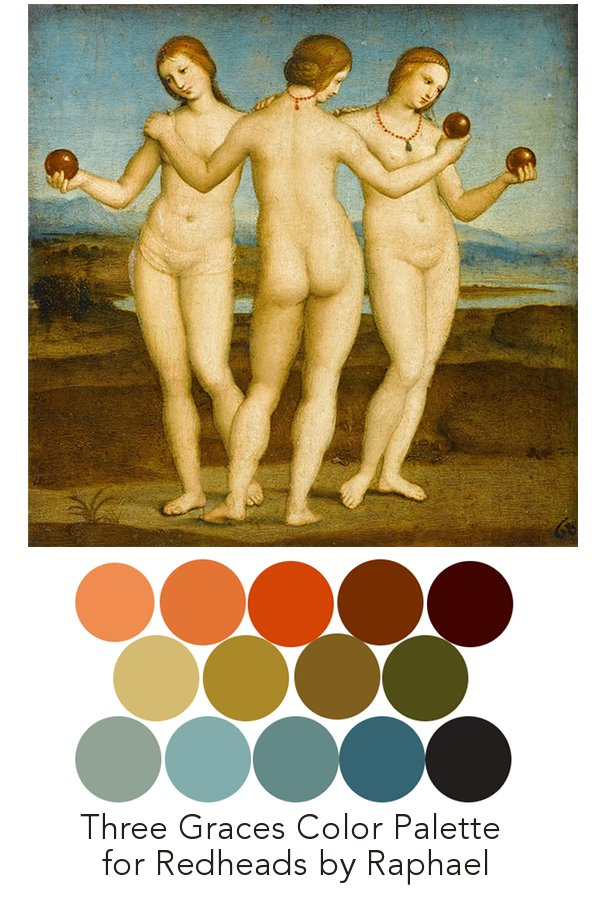 colors sampled from Raphael's  work.