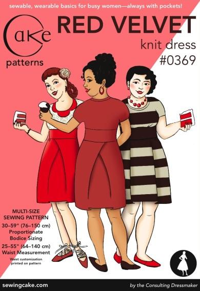 0369 Red Velvet Dress Cake Patterns Envelope Front