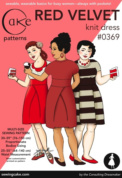 0369 Red Velvet Dress Cake Patterns Envelope Front