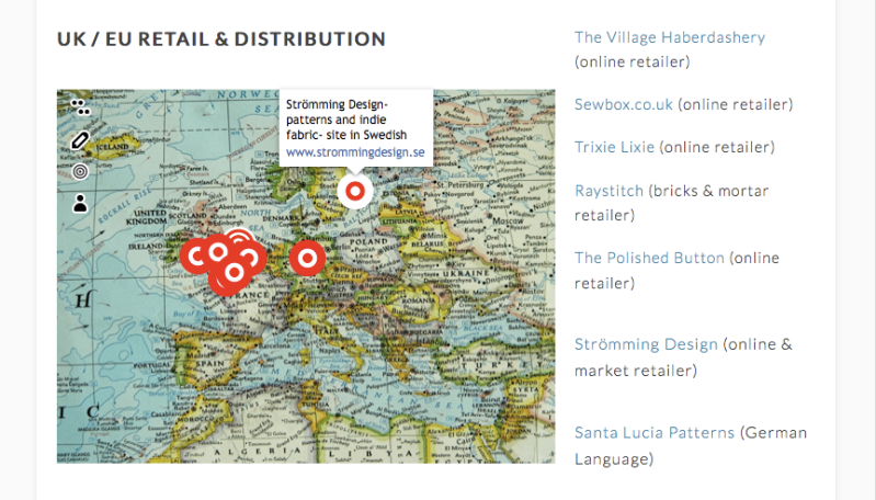 Cake Stockists interactive map