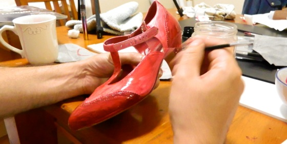 23 Skidoo Shoes in progress