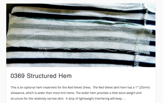 Structured Hem Visual Reference