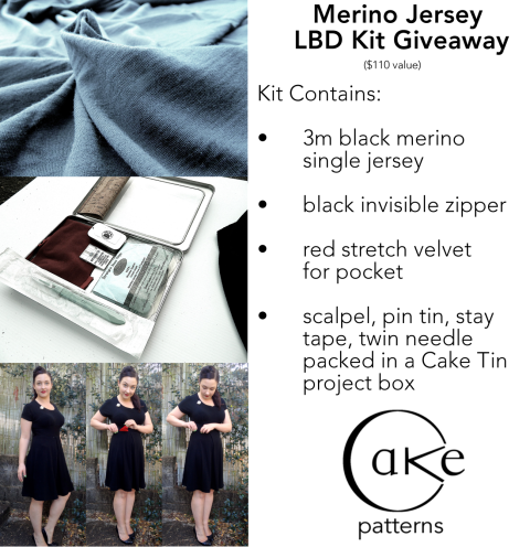 Merino LBD Giveaway Cake Patterns sm