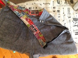 lined waistband, I love the way these wear.